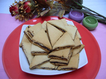 Triangles farcis aux dattes