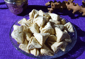 Triangles fourres d'amandes